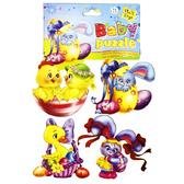 Мягкий пазл пасхальный с зайкой в яйце, Baby puzzle, Vladi Toys, зайка в яйце от Vladi Toys (ВладиТойс)