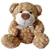 Медведь, коричневый с бантом, мягкая игрушка 25 см. GranD
