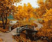 Осенний парк (мост), 40х50см