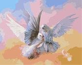Влюбленные голубки, 40х50см