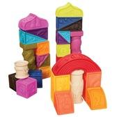 Развивающие силиконовые кубики - ПОСТРОЙ-КА! (26 кубиков, в сумочке) от Battat (Баттат)