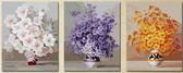 Триптих. Нежные цветы, 50х150см