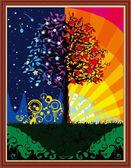 Дерево счастья, 40х50см