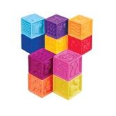 Развивающие силиконовые кубики - ПОСЧИТАЙ-КА! (10 кубиков,  в сумочке) от Battat (Баттат)