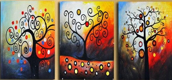 Триптих. Дерево счастья, 50х120см