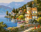 Цветущее побережье, 40х50см