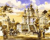 Андреевская церковь, 40х50см