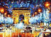 Вечерний Париж, 40х50см