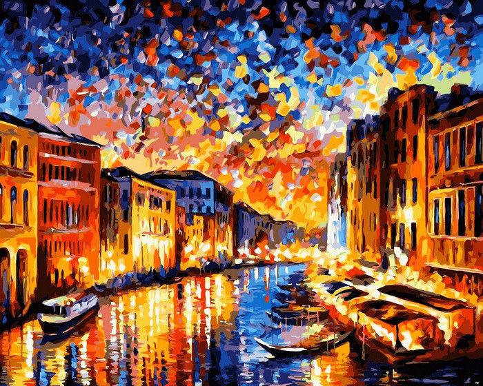 Ночная Венеция, 40х50см