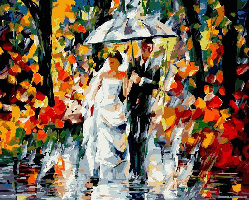 Свадьба под дождем, 40х50см