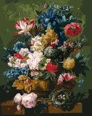 Цветы и гнездо, 40х50см