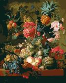 Цветы и фрукты, 40х50см