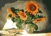 Солнечные цветы, 40х50см