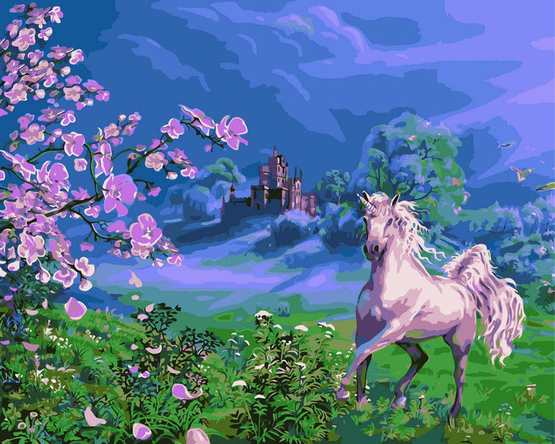 Розовая лошадь, 40х50см