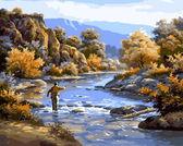 Осенняя рыбалка, 40х50см