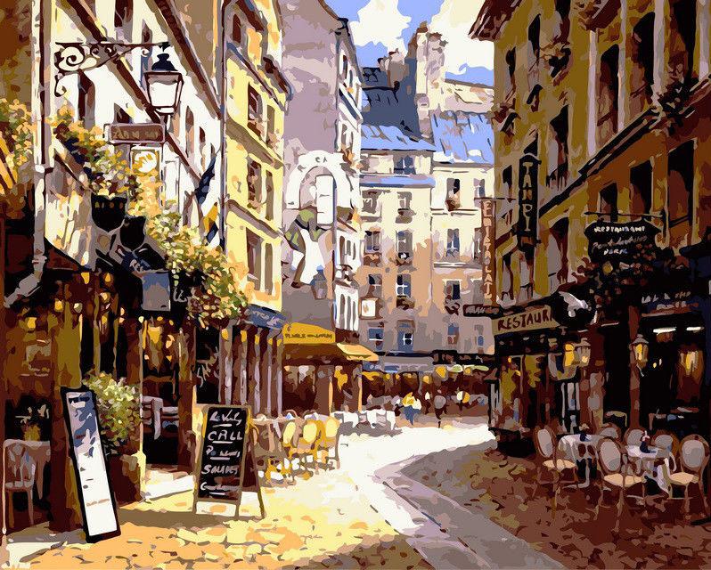 Рестораны Парижа, 40х50см