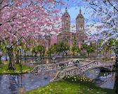 Весна в парке, 40х50см