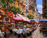 Цветочный рынок, 40х50см