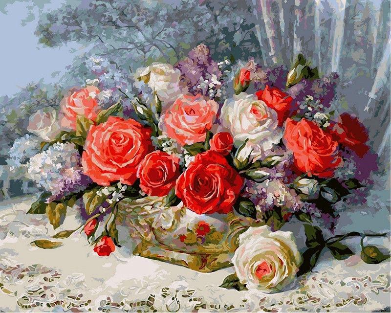 Розы на веранде, 40х50см