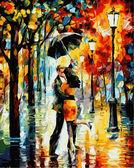 Танец под дождем, 40х50см