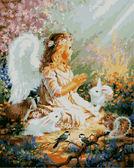 Ангелок и лесные зверушки, 40х50см