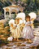 Маленькие ангелы, 40х50см