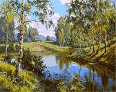 Тихая речка, 40х50см