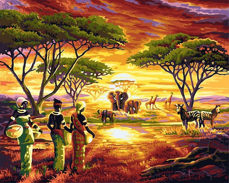 Африка, 40х50см
