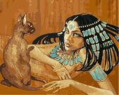 Египтянка с кошкой, 40х50см