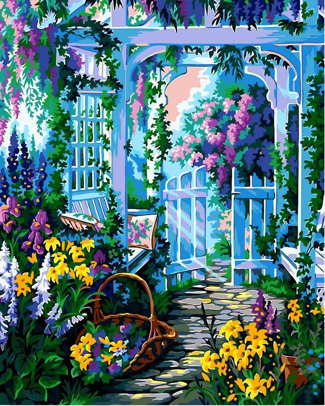 Сиреневый сад, 40х50см
