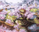 Цветение сакуры, 40х50см