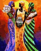 Африканские мотивы, 40х50см