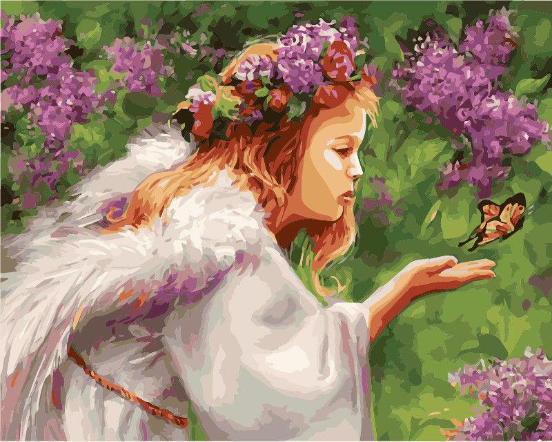 Поцелуй бабочки, 40х50см