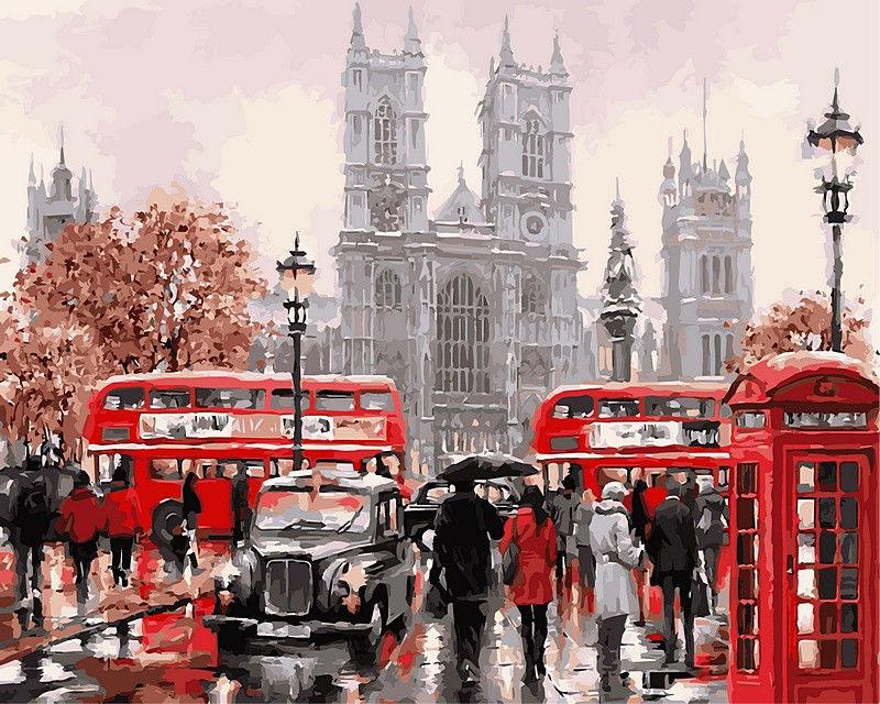 Дождливый Лондон, 40х50см