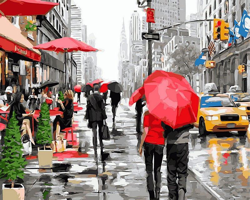 Дождь в Нью-Йорке, 40х50см