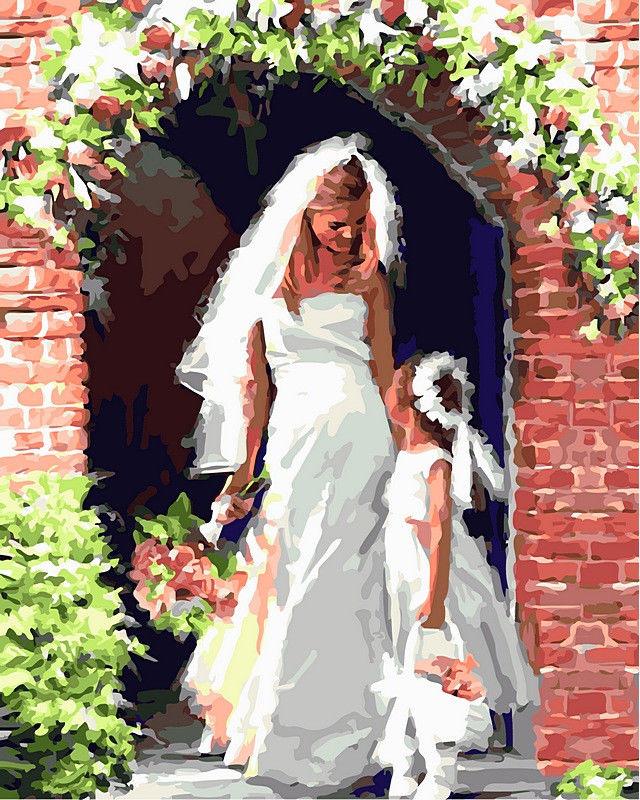 Свадебный ангел, 40х50см