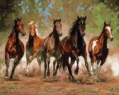 Лошади в каньоне, 40х50см