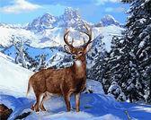 Благородный олень, 40х50см