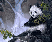 Панда с бамбуком, 40х50см