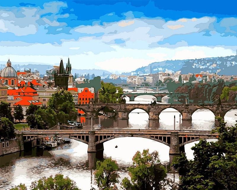 Мосты Праги, 40х50см