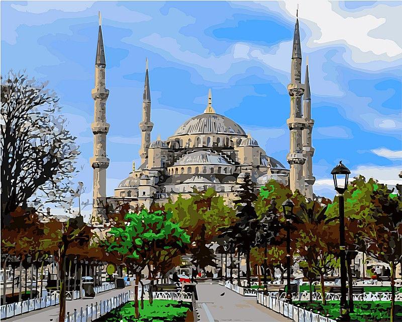 Стамбул. Голубая мечеть., 40х50см