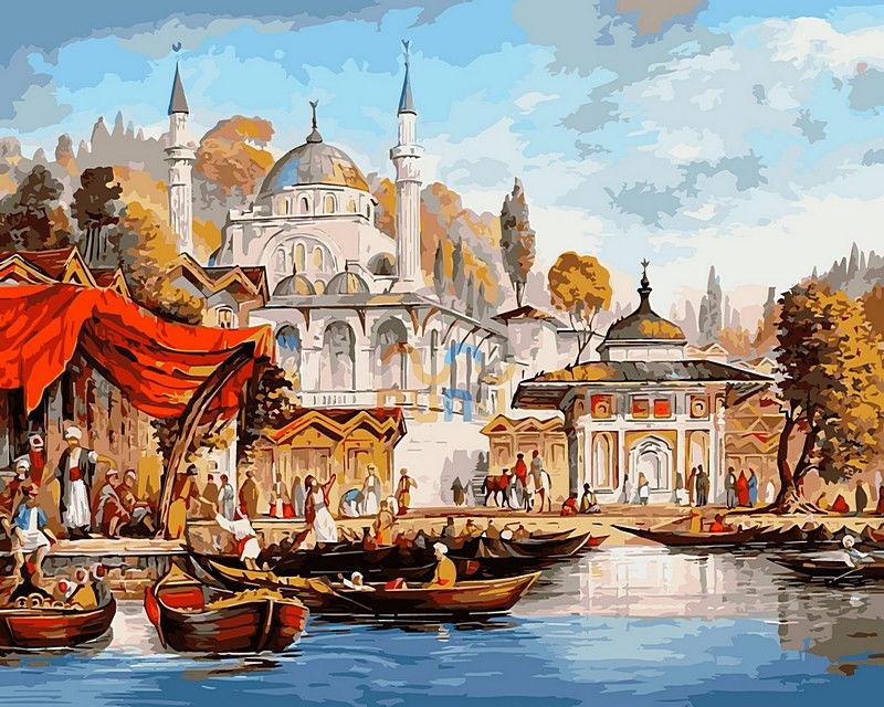 Стамбул. Мечеть  Ускюдар, 40х50см