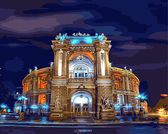 Оперный театр.Одесса, 40х50см