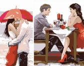 Диптих. Первое свидание (2 картины, 40х20, 40х30см), 40х50см