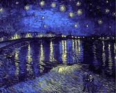 Звездная ночь над Роной, 40х50см