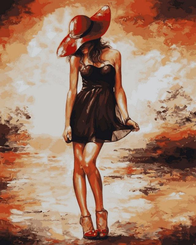 Черное платьице, 40х50см