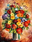 Яркие цветы, 40х50см