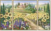 Триптих. Лето в Тоскане, 50х80см