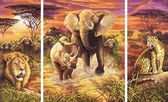 Триптих. Африка. Большая пятерка, 50х80см