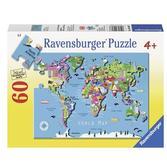 Пазл Карта мира, 60 элементов